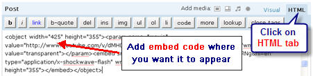 Image of the HTML editor