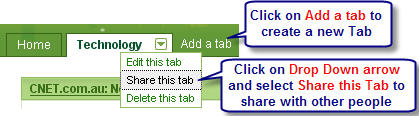 Image of how to share tabs