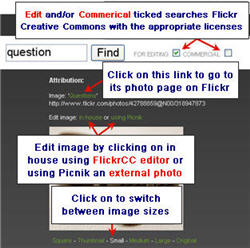 Image of searching FlickrCC
