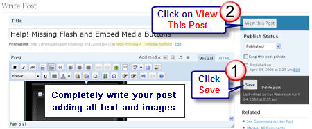 Image of how to View Post