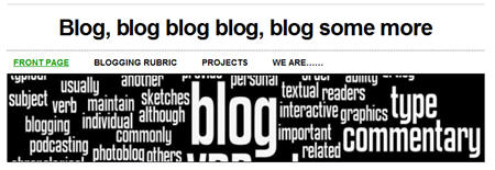 Example of a blog title