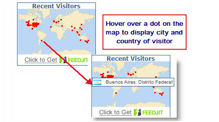 Displaying city and country on a Feedjit map