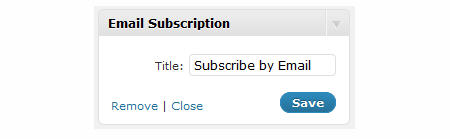 Adding a title to your email subscription widget