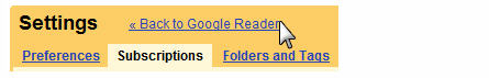 Go back to your Google Reader