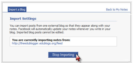 Stop importing your blog feed