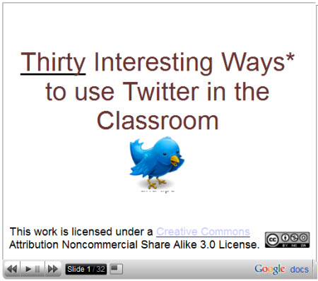 30 Interesting Ways to use Twitter in the classroom