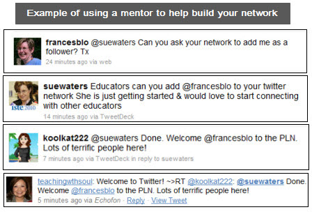 Example of using a mentor to help build your network