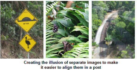 Creating the illuision of separate images