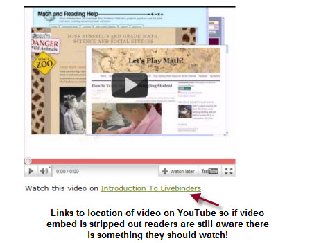 Example of adding a link for an embed