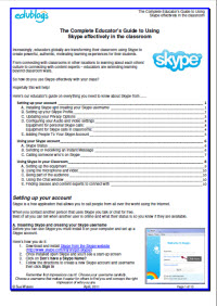 PDF version of the Skype guide