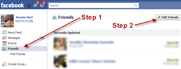 How to group friends on facebook