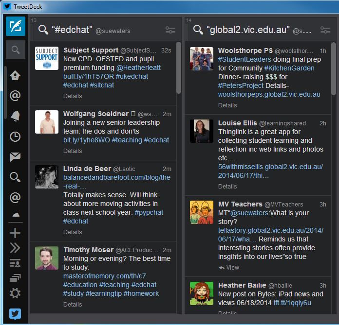 Search column in Tweetdeck