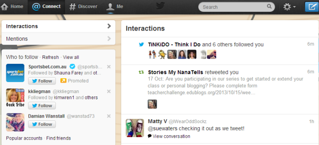 Interactions tab